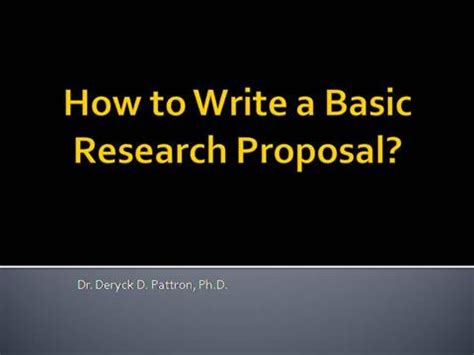 We Offer Professional Research Proposal Writing